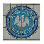 Louisiana Seal Tile Coaster
