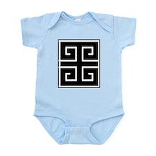 Greek Key Black Infant Bodysuit