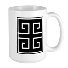 Greek Key Black Mug