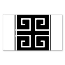 Greek Key Black Decal