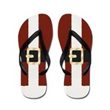 Santa Claus Suit Christmas Flip Flops