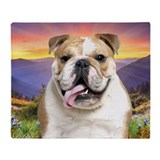 Bulldog Meadow Throw Blanket