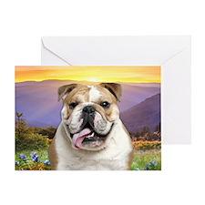Bulldog Meadow Greeting Card