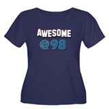 Awesome at 98 Women's Plus Size Scoop Neck Dark T-