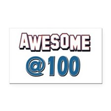 Awesome at 100 Rectangle Car Magnet