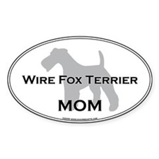 Wire Fox Terrier MOM Oval Decal