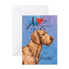 Wirehaired Vizsla Greeting Card