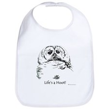 Wise Hoot Owl Bib