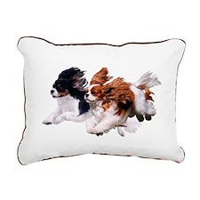Lily & Rosie, Running Rectangular Canvas Pillow