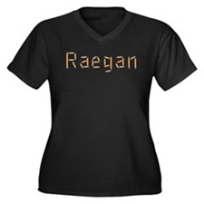 Raegan Pencils Women's Plus Size V-Neck Dark T-Shi