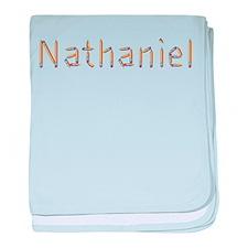 Nathaniel Pencils baby blanket
