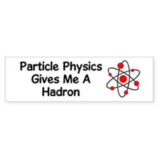Particle Physics Bumper Car Sticker