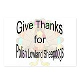 Thanks Polish Sheepdog Postcards (Package of 8)
