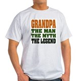 Grandpa - The Legend Ash Grey T-Shirt