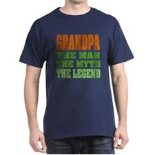 Grandpa - The Legend Black T-Shirt