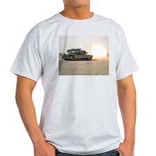 USMC M1A1 MBT Fire! Ash Grey T-Shirt