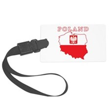 Poland Map With Eagle Luggage Tag