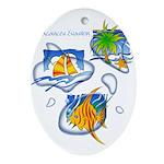 Tropic Oval Ornament