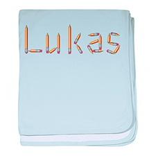 Lukas Pencils baby blanket