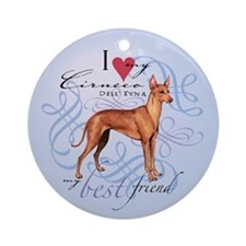 Cirneco dell' Etna Ornament (Round)