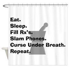 pharmacist Slam phones.PNG Shower Curtain
