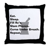 pharmacist Slam phones.PNG Throw Pillow