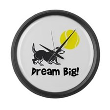 Border Collie Dream Big Large Wall Clock