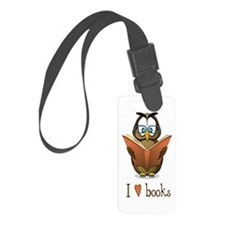 Book Owl I Love Books Luggage Tag