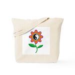 Retro Yin Yang Flower Tote Bag