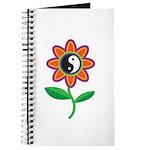 Retro Yin Yang Flower Journal
