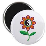 Retro Yin Yang Flower Magnet