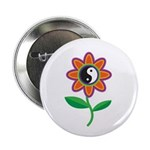 Retro Yin Yang Flower Button