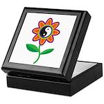 Retro Yin Yang Flower Keepsake Box