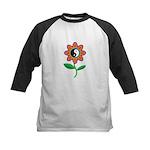 Retro Yin Yang Flower Kids Baseball Jersey