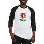 Retro Yin Yang Flower Baseball Jersey