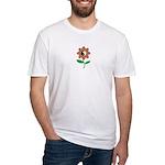 Retro Yin Yang Flower Fitted T-Shirt