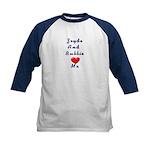 Zeidy and Bubbie Love Me Kids Baseball Jersey
