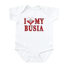 I Heart My Busia Infant Bodysuit