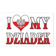 I Heart My Dziadek Flag Postcards (Package of 8)