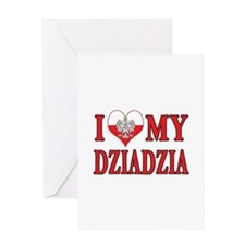 I Heart My Dziadzia Greeting Card