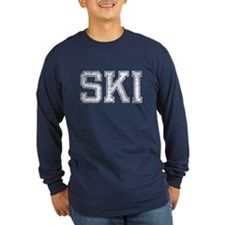 SKI, Vintage, Long Sleeve T-Shirt