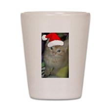 Christmas Orange TabbyKitten Shot Glass