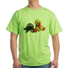 Frog and Ducky friends Ash Grey T-Shirt T-Shirt
