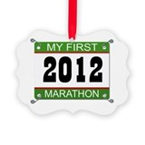 My First Marathon Bib - 2012 Picture Ornament