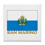 San Marino Flag Stuff Tile Coaster