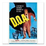 "D.O.A. Square Car Magnet 3"" x 3"""