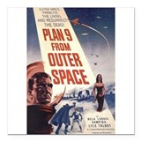 "Plan 9 From Outer Space Square Car Magnet 3"" x 3"""