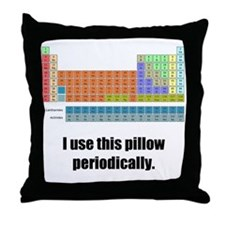 The Periodic Throw Pillow