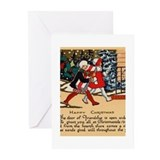 Funny Yule log Greeting Cards (Pk of 20)