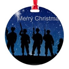 Soldiers' Silent Night 2 Round Ornament